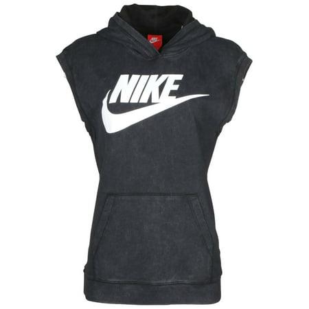 Nike - Nike Women s Solstice Sleeveless Pullover Hoodie-Black ... 7230fb8d5