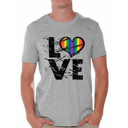 Awkward Styles Gay Love T Shirt for Men Gay Shirt for Husband Gay Gifts Gay Pride Tshirt for Him Gay Mens Shirt Gay Flag T Shirt Rainbow T Shirt Gay Mens Tshirt LGBT Clothing Gay Rights Gay T-Shirt