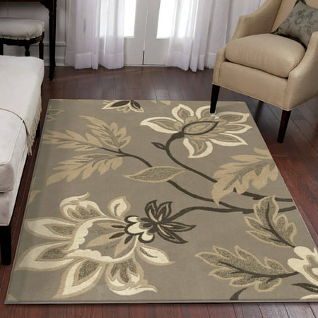 Dalyn Taupe Rug (Orian Rugs Trendy Floral Sabrina Area Rug)