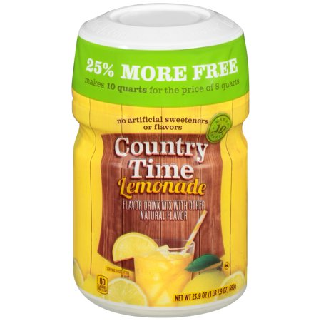 Country Time Lemonade Drink Mix 19 oz. Jar - Halloween Alcoholic Drink Mixes