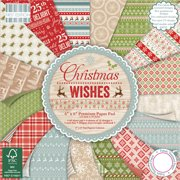 "First Edition Premium Paper Pad 12""X12"" 48/Pkg-Christmas Wishes, 16 Designs/3 Each"