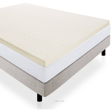 Lucid 3 Plush Ventilated Memory Foam Mattress Topper Multiple