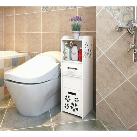 UBesGoo Modern 3-tier Slim Space Saver Portable Bathroom ...