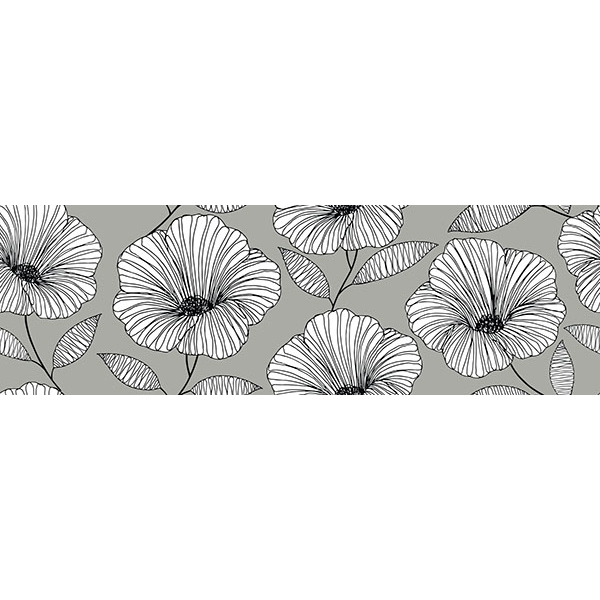 Moon Flower Stair Stripe Decal