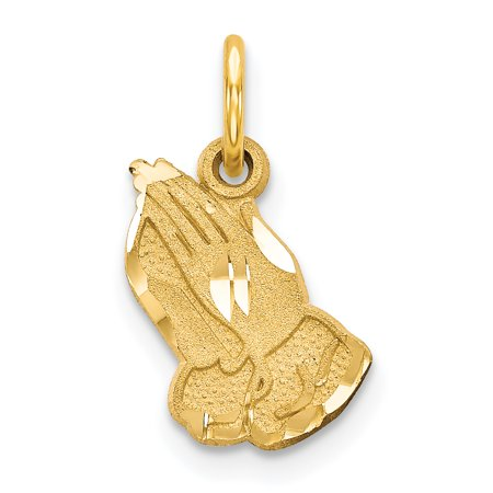 Praying Hands Religious Charm Pendant (14k Yellow Gold Praying Hands Pendant Charm Necklace Religious H Gifts For Women For)
