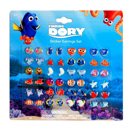 fdb3c6279 Disney - Disney Finding Dory Sticker Earrings Dress Up Jewelry 24 Pairs -  Walmart.com