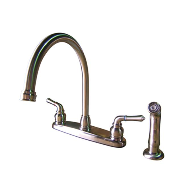 8-3//4 inch in Spout Reach Oil Rubbed Bronze Oil Rubbed Bronze Kingston Brass KS1275TAL Tudor 8 Inch Center Kitchen Faucet With ABS Sprayer