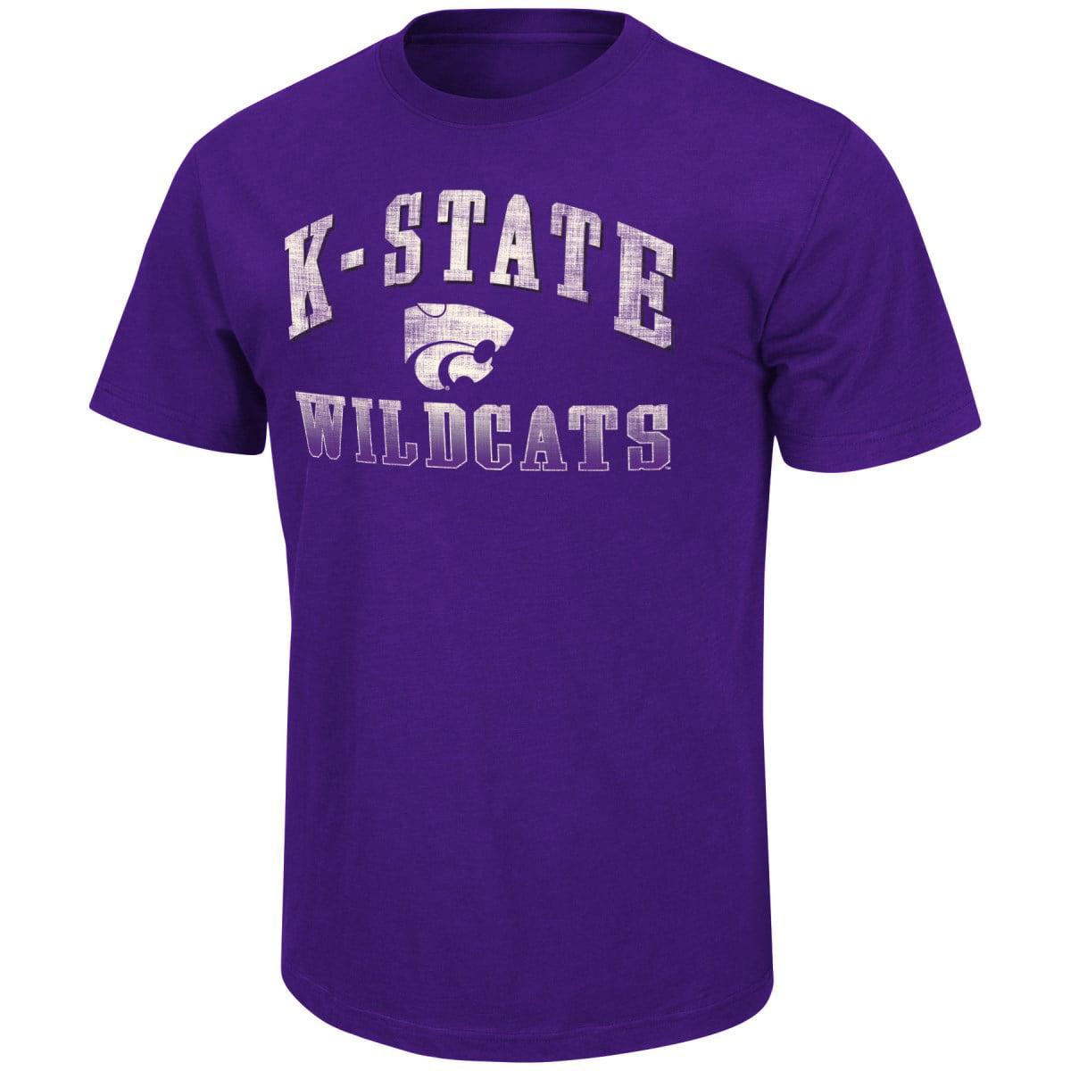 "Kansas State Wildcats NCAA ""Contour"" Men's Short Sleeve Distressed T-Shirt"