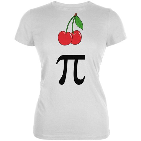 Halloween Math Pi Costume Cherry Day Juniors Soft T Shirt (Halloween Days Out)