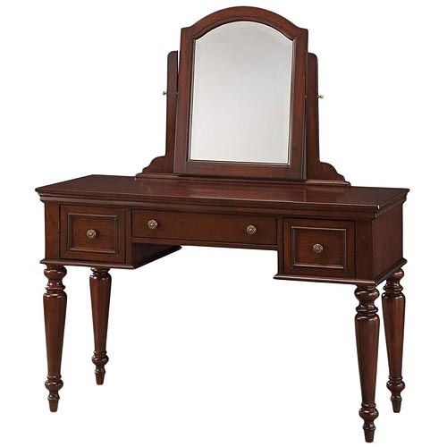 Home Styles Lafayette Vanity Table and Mirror, Cherry