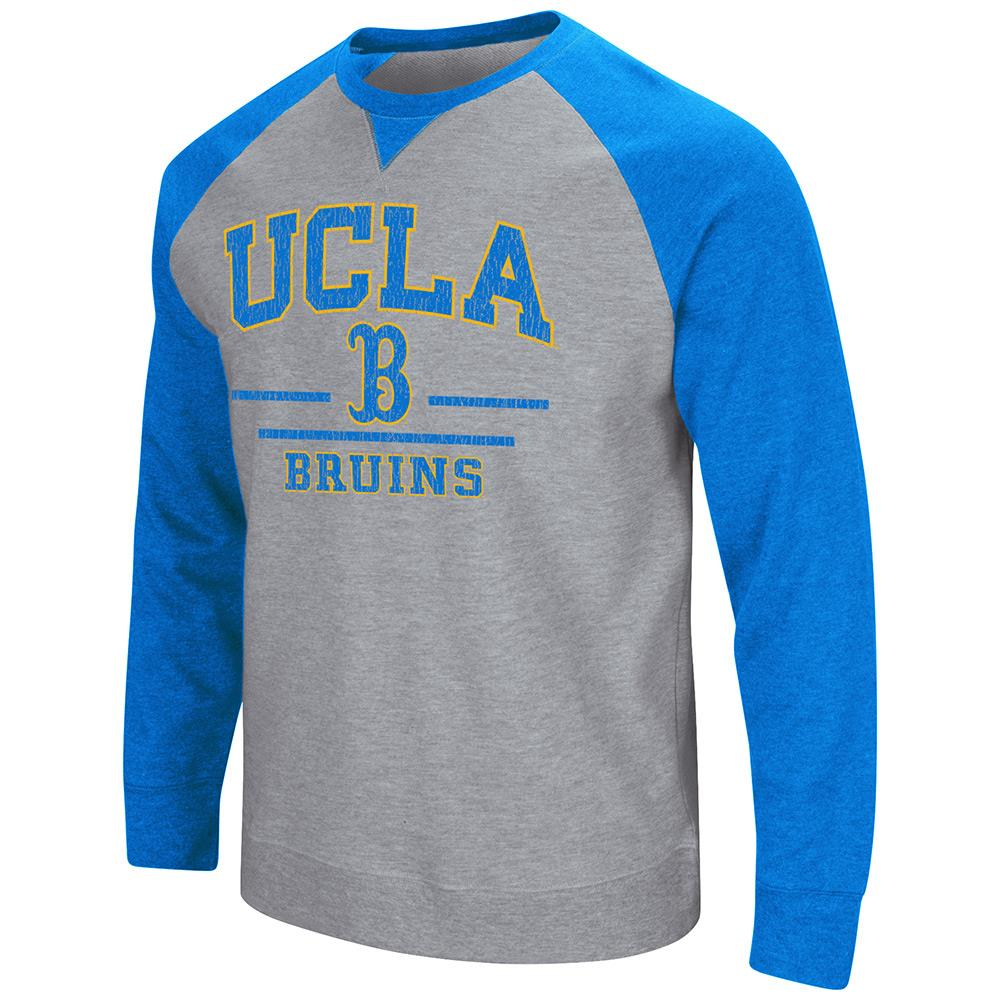 Mens NCAA UCLA Bruins Crew Neck Sweatshirt (Heather Grey)
