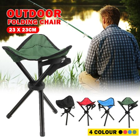 Portable Tripod Chair Mini Folding Chair Stool Seat for Outdoor Travel Fishing Camping Hiking BBQ