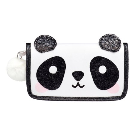 U Style Critter Clutch Bag with Pom Pom, Panda ($11 Value) (Pom Pom Critters)