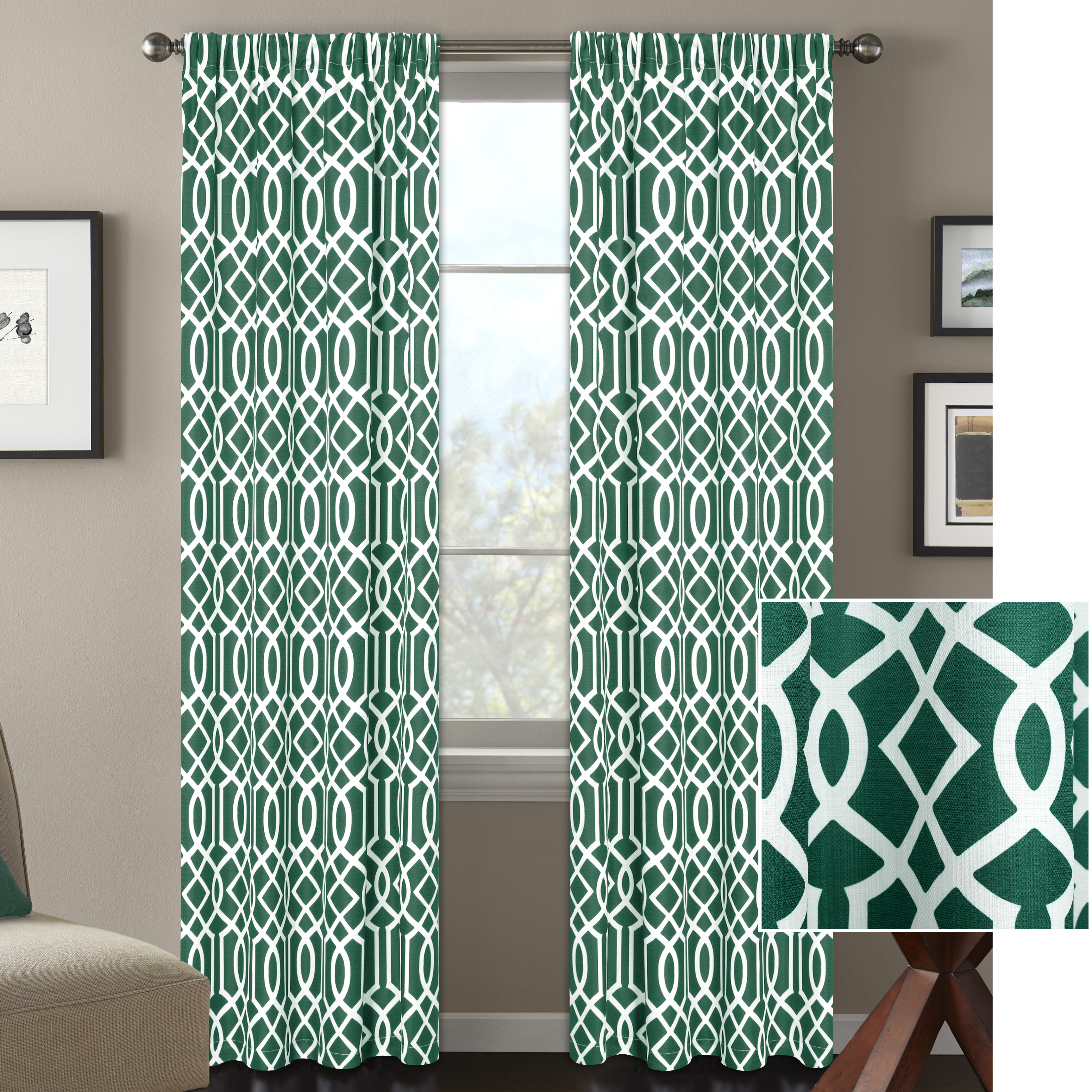 Better Home and Gardens Ironwork Window Curtain by Colordrift LLC