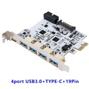 New USB 3.0PCI-E Type C Expansion Card PCI Express PCI-E To USB 3.1 Card Adapter