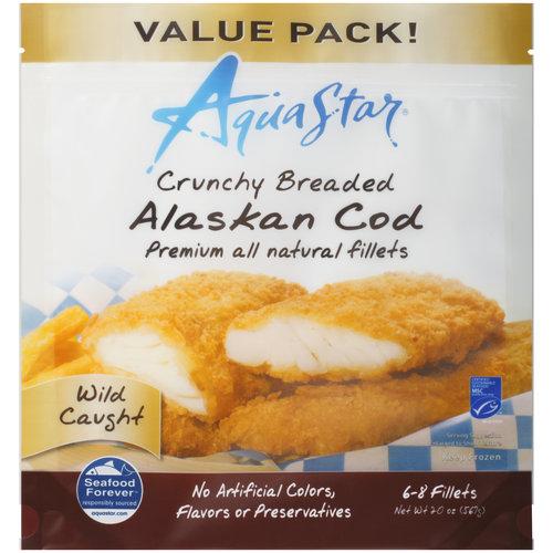 Aqua Star Crunchy Breaded Alaskan Cod Fillets, 20 oz