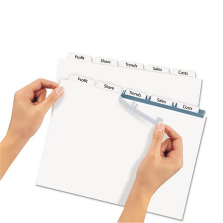 avery dennison 11447 print apply clear label dividers with white
