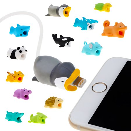 Cable Bites Various Animal Shapes Prevents Breakage Protects iPhone Lightning Cord/ Cable Accessory Available in 12 Amazing (Pinpad Cable)