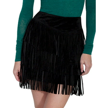 c247921417 Scully - Scully Western Skirt Womens Suede Tiered Fringe Zip Mini Skirt  L704 - Walmart.com