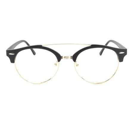 aff7a97a427 Eye Buy Express Prescription Glasses Mens Womens Black Gold Quarter Frame  Classic Style Reading Glasses Anti Glare grade - Walmart.com