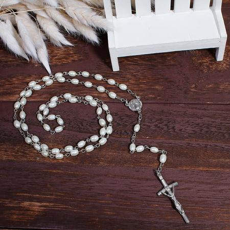 SEXY SPARKLES Christian / Catholic Jesus Religious Prayer Rosary Beads Y Shaped Lariat - Beaded Lariat Necklace