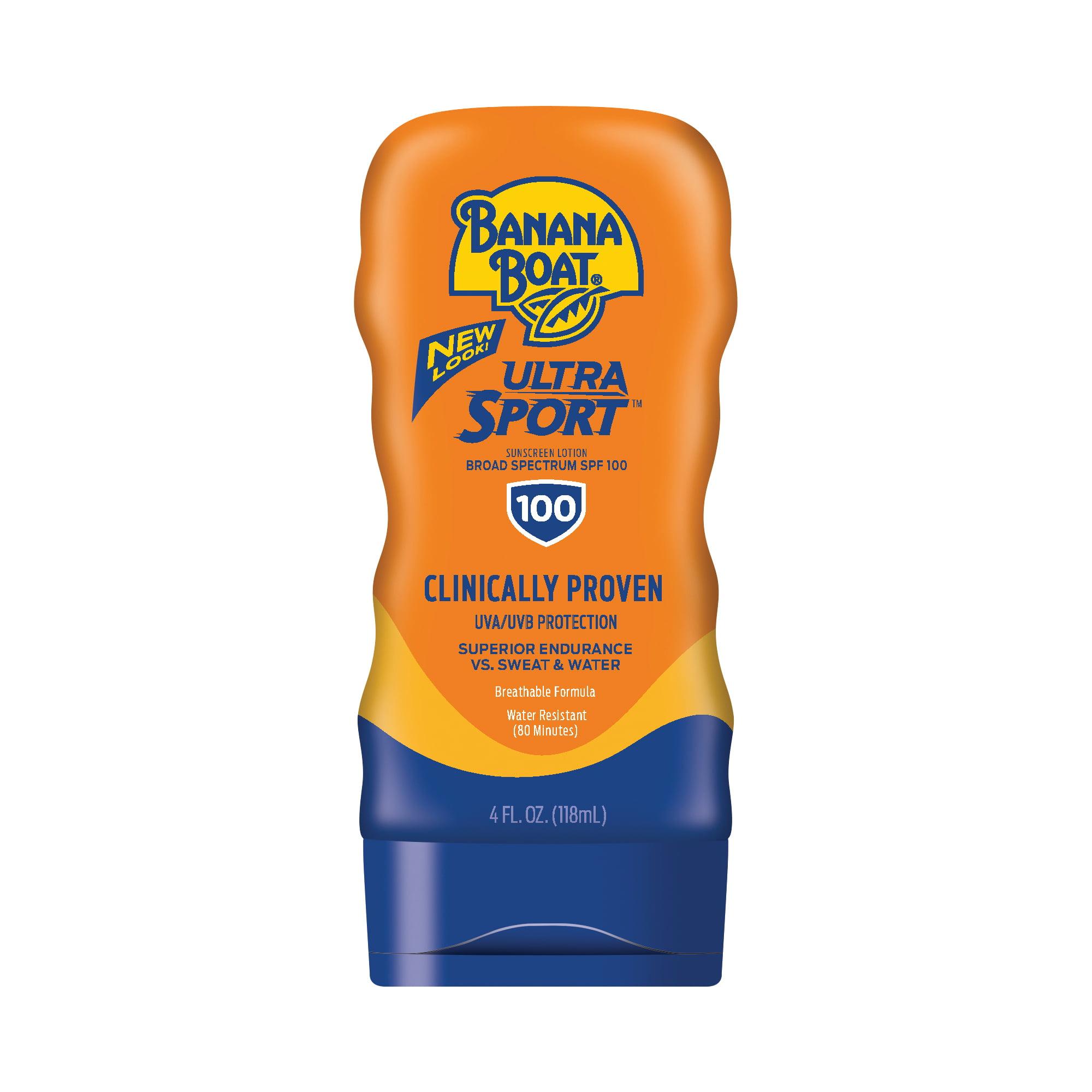 Banana Boat Ultra Sport Sunscreen Lotion SPF 100, 4 Oz, Packaging May Vary