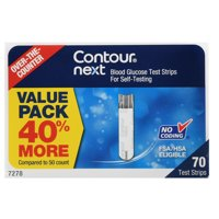 Contour Next Blood Glucose Test Strips, 70 Ct
