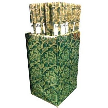 JAM Paper Christmas Design Gift Wrapping Paper, 12.5 sq. ft, Green Florentine Foil, Sold Individually