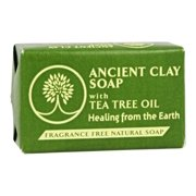 Zion Health 206180 6 oz Ancient Clay Soap with Tea Tree Oil