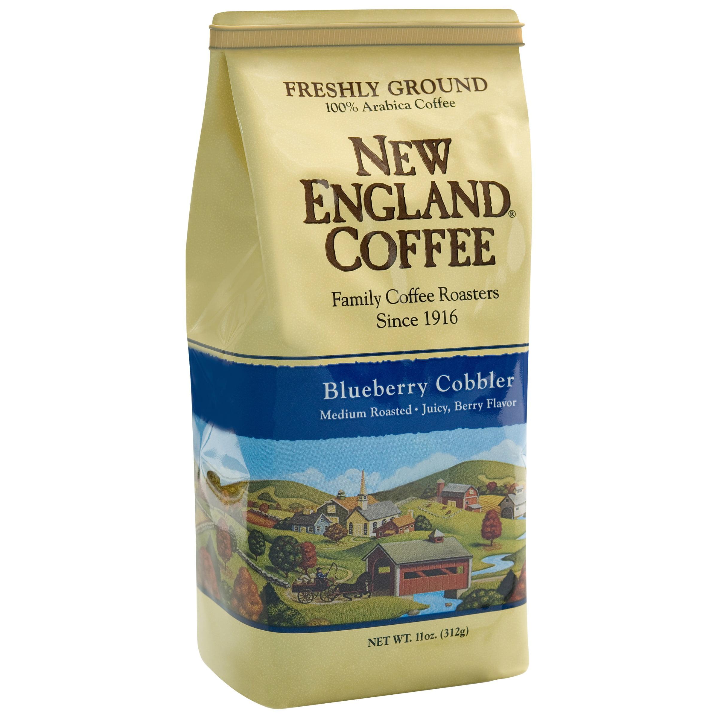 New England Coffee Blueberry Cobbler Ground Coffee, 11 oz