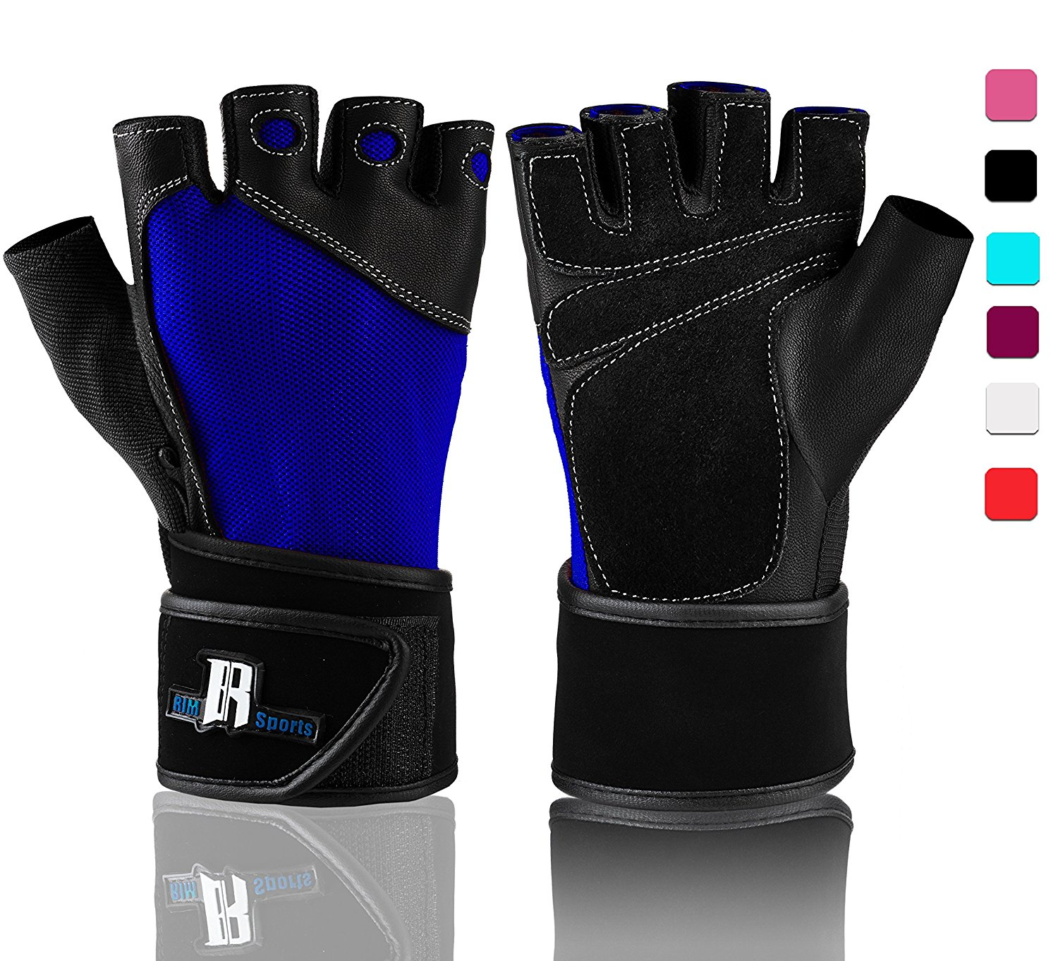 Weight Lifting Gloves With Wrist Wrap - Best Lifting Gloves - Premium Weights Lifting Gloves, Rowing Gloves, Biking Gloves, Training Gloves, Crossfit Gloves & Grip Gloves - Black, X-Small