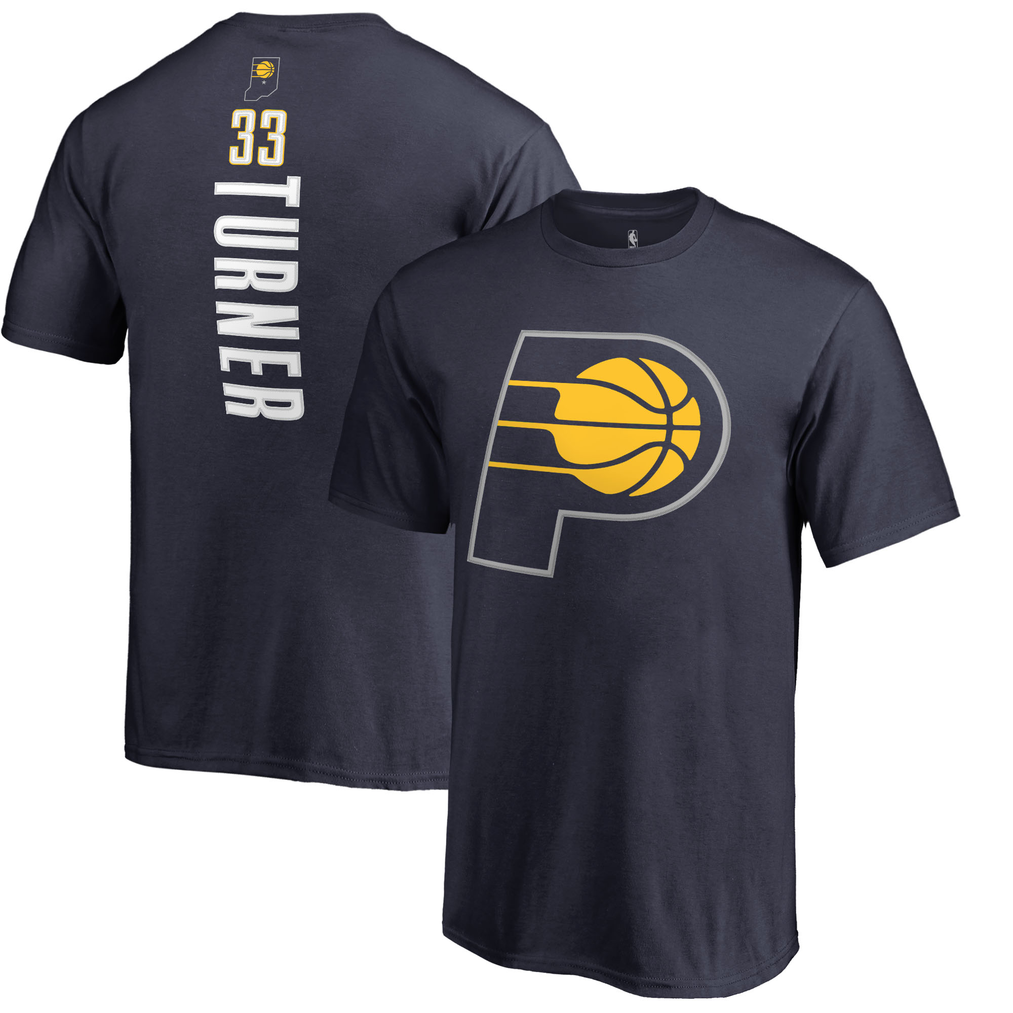 Myles Turner Indiana Pacers Fanatics Branded Youth Team Backer Name & Number T-Shirt - Navy