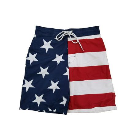 19c01f5605c4d Mens USA Patriotic US Flag American Flag Swim Trunks Board Shorts -  Walmart.com