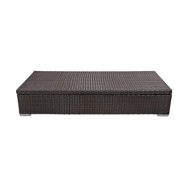 Source Outdoor SO-2001-310-ESP King Rectangular Shaped Coffee Table with Storage in Espresso by Source Outdoor