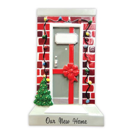 PERSONALIZED CHRISTMAS ORNAMENTS HOME- OUR NEW HOME DOOR KIT