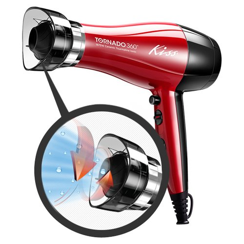 Kiss Tornado 360 Heat Protection Air Booster 1875 Watt Ionic Hair Dryer