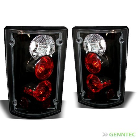 For 2000-2006 Ford Excursion/1995-2006 Econoline Blk Tail Lights Rear Brake Lamp  Pair L+R 2001 2002 2003 2004 2005