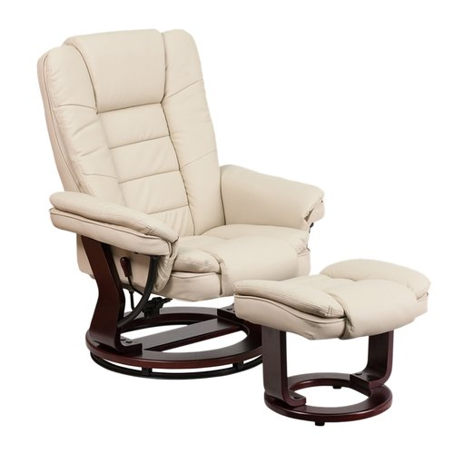 Latitude Run Inga Manual Swivel Recliner with Ottoman