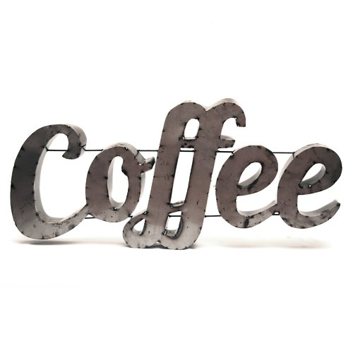 Rustic Arrow Coffee Sign with Rebar Wall D cor