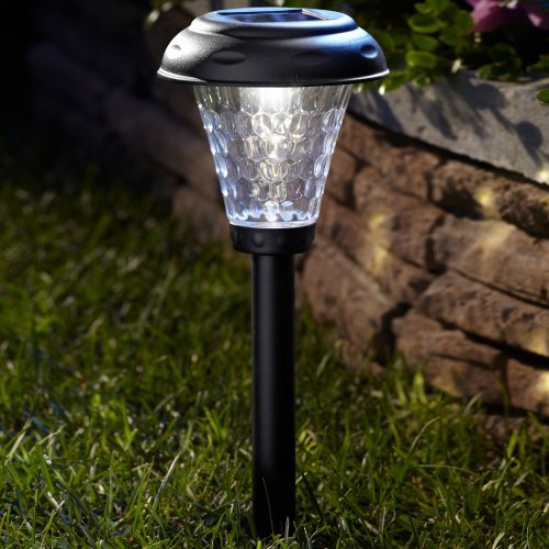 Moonrays Payton Style Solar Plastic Path Light - Set of 10