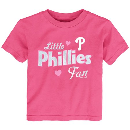 Philadelphia Phillies Girls Toddler Fan T-Shirt - Pink