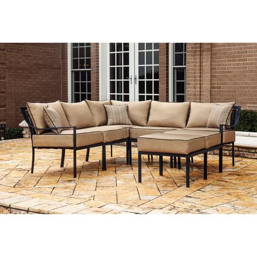 Braddock Heights 7-Piece Outdoor Sectional Sofa Set, Seats 5