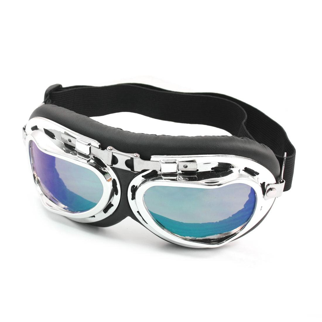 Men Adjustable Elastic Head Strap Motorcycle Tinted Glasses Sunglasses