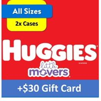 [$20 Savings] Buy 2 Huggies Little Movers Diapers Economy+ Packs (Any Size) with Free $20 Gift Card