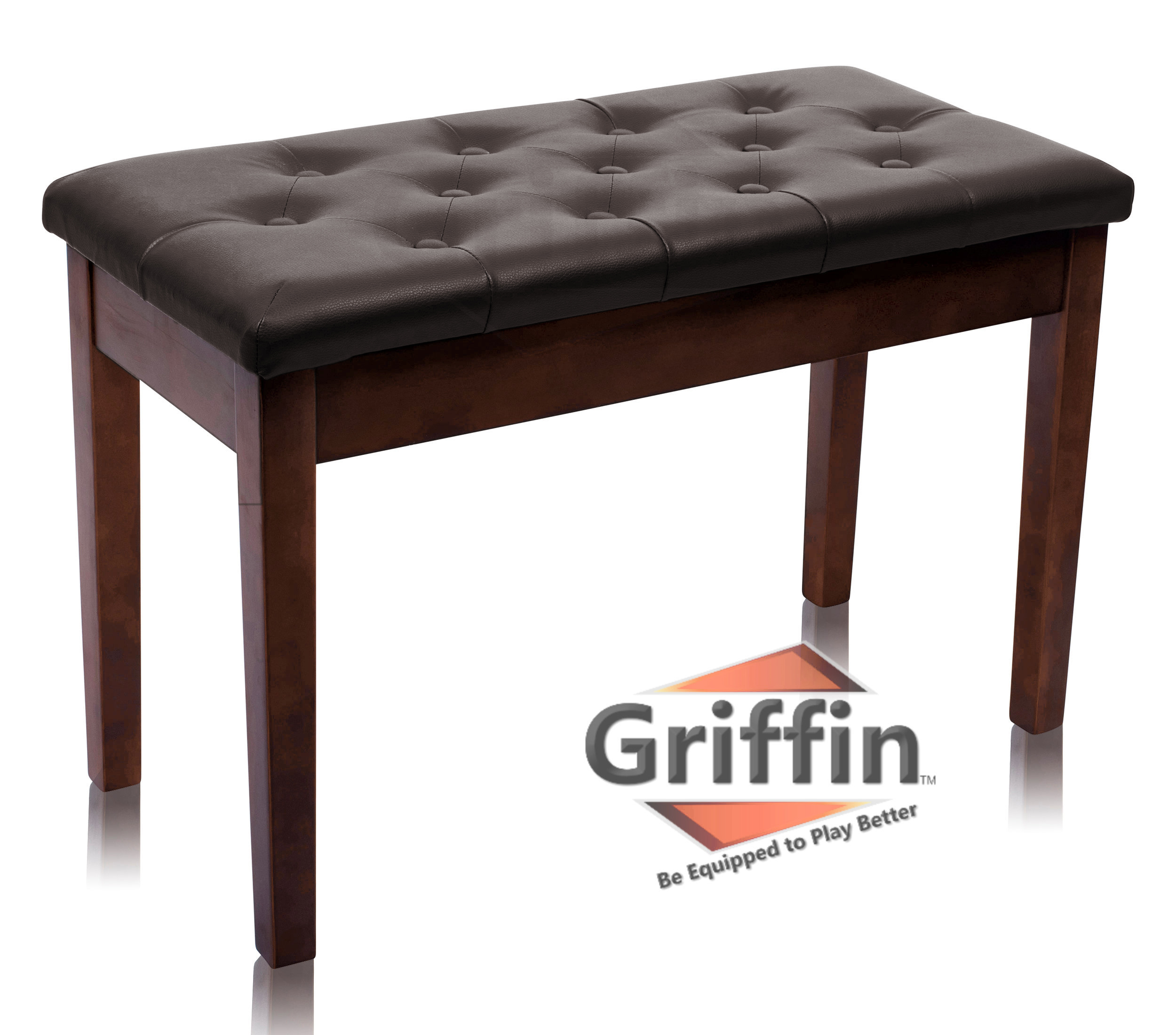 Superieur Griffin Double Brown Leather Piano Bench U2013 Vintage Design, Heavy Duty U0026  Ergonomic Keyboard