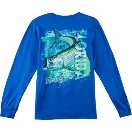 Reel Legends Mens Tarpon Swim Long Sleeve T-Shirt 16W Short