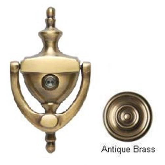 BRASS Accents A07-K6551-609 Traditional Door Knocker 6 inch with Eyeviewer Antique Brass