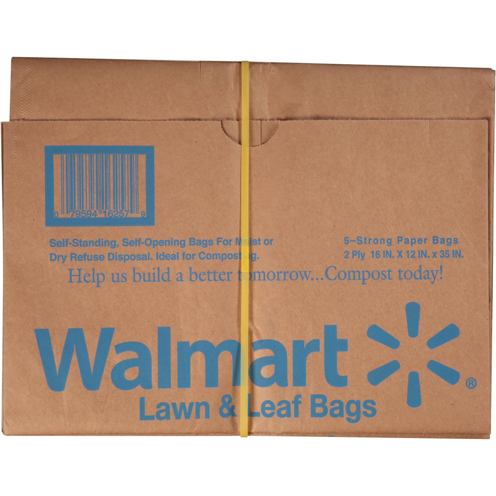 Walmart Lawn & Leaf Bags, 5 count