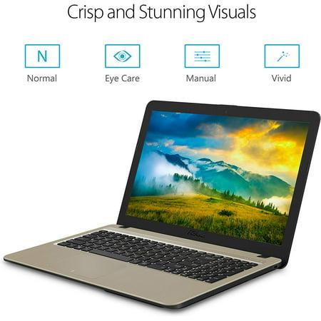Asus X540MA-DB22 15.6 inch Intel Pentium Silver N5000 1.1GHz- 4GB LDDR4- 1TB HDD- DL DVDRW-CD-RW- USB3.0- Windows 10 Notebook (Dark Brown- Gold) - image 1 of 5