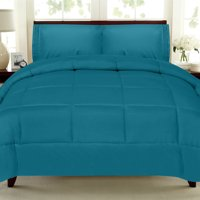 All Seasons Down Alternative Comforter Solid Color Box Stitch - King
